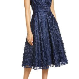 3D Appliqué Fit & Flare Cocktail Dress | Nordstrom