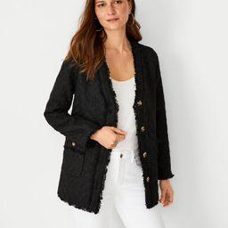 Fringe Tweed Cardigan Jacket | Ann Taylor | Ann Taylor (US)