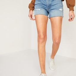 High-Waisted O.G. Straight Ripped Cut-Off Jean Shorts for Women -- 3-inch inseam   Old Navy (US)