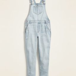 Straight Light-Wash Distressed Jean Overalls for Women | Old Navy (US)
