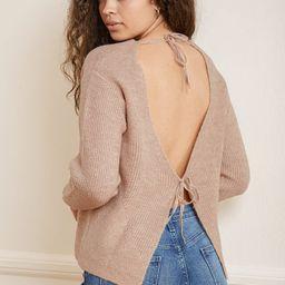 Tie to Tell Beige Knit Tie-Back Sweater | Lulus (US)