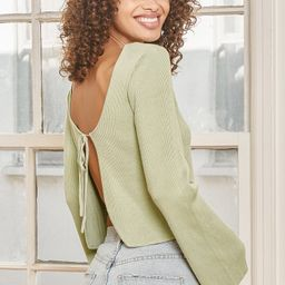 Tie It With Me Sage Green Tie-Front Cropped Cardigan Sweater | Lulus (US)