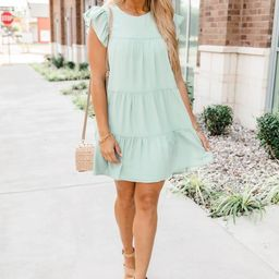 Complete My Heart Sage Dress   The Pink Lily Boutique