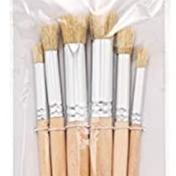 Wooden Stencil Brushes Natural Stencil Bristle Brushes Art Painting Brushes Wood Paint Template B... | Amazon (US)