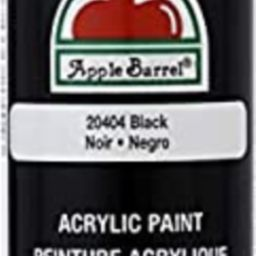 Apple Barrel Acrylic Paint in Assorted Colors (8 Ounce), 20404 Black | Amazon (US)