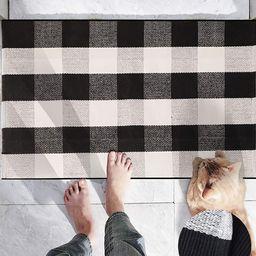 TureClos Hand-Woven Cotton Christmas Plaid Area Rug Anti Slip Doormat Floor Mat Layered Carpet fo... | Walmart (US)