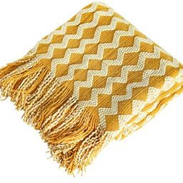 NTBAY Acrylic Knitted Throw Blanket, Lightweight and Soft Cozy Decorative Woven Blanket with Tass...   Amazon (US)