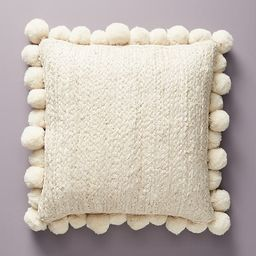 """Pommed Jute Pillow By Anthropologie in White Size 18"""" SQ   Anthropologie (US)"""
