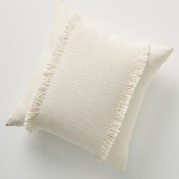 """Fringed Emmaline Pillow By Anthropologie in White Size 18"""" SQ   Anthropologie (US)"""