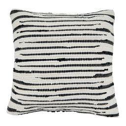 """22""""""""x22"""""""" Zebra Chindi Design Cotton Throw Pillow Cover Black/White - Saro Lifestyle   Target"""