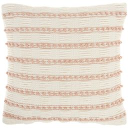 """18""""x18"""" Life Styles Woven Lines and Dots Square Throw Pillow - Mina Victory   Target"""