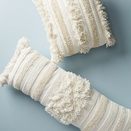 Textured Indira Pillow By Anthropologie in White Size 14 X 40   Anthropologie (US)