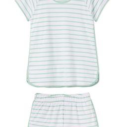 Pima Shorts Set in Spring Green | LAKE Pajamas