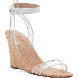 Aquazzura Minimalist Sandal Wedges w/ Illusion Straps   Neiman Marcus