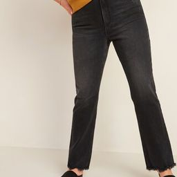High-Waisted Flare Black Cut-Off Ankle Jeans for Women   Old Navy (US)