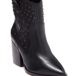 Laurinete Studded Leather Western Boot | Nordstrom Rack