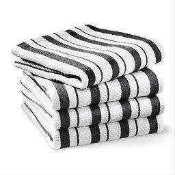Williams-Sonoma Classic Striped Towels, Set of 4 (Jet Black) | Amazon (US)