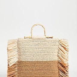 Natural Camel Straw Tote | Shopbop