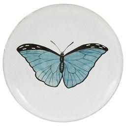 Astier de Villatte Blue Butterfly Plate | Jayson Home