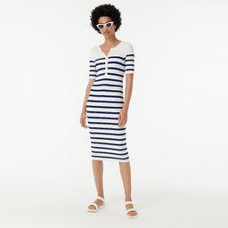 Ribbed henley sweater-dress in stripe | J.Crew US
