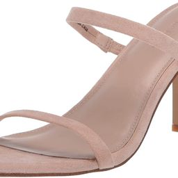 The Drop Women's Avery Square Toe Two Strap High Heeled Sandal | Amazon (US)