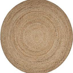 LR Resources Natural Jute Indoor Area Rug, 4' x 4' Round, -   Amazon (US)