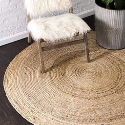 Unique Loom Braided Jute Collection Hand Woven Natural Fibers Natural/Tan Round Rug (3' 3 x 3' 3)   Amazon (US)