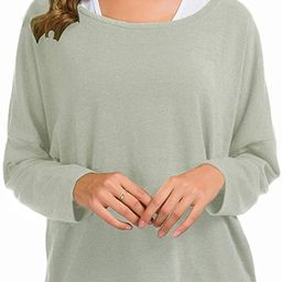 UGET Women's Sweater Casual Oversized Baggy Loose Fitting Shirts Batwing Sleeve Pullover Tops | Amazon (US)