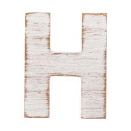White Wash Rustic Letter H | Walmart (US)