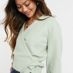 & Other Stories wrap cardigan in dusty green   ASOS (Global)