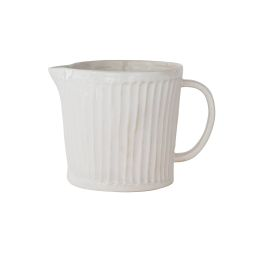 Glossy White Scalloped Pitcher | McGee & Co.