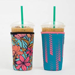 Reusable Insulated Neoprene Iced Coffee Beverage Sleeve | Cold Drink Cup Holder for Starbucks Cof... | Amazon (US)