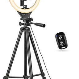 10'' Ring Light with 50'' Extendable Tripod Stand, Sensyne LED Circle Lights with Phone Holder fo... | Amazon (US)