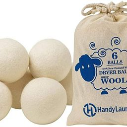 Wool Dryer Balls - Natural Fabric Softener, Reusable, Reduces Clothing Wrinkles and Saves Drying ... | Amazon (US)