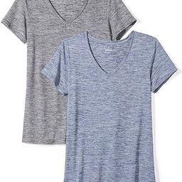Women's 2-Pack Tech Stretch Short-Sleeve V-Neck T-Shirt | Amazon (US)