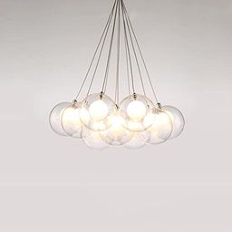Modern minimalist chandelier glass ball stairs bedroom creative kids room pendant light restauran... | Amazon (US)