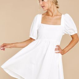 One Kiss Away White Dress   Red Dress