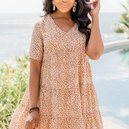 Thoughts Of You Animal Print Babydoll Dress | The Pink Lily Boutique