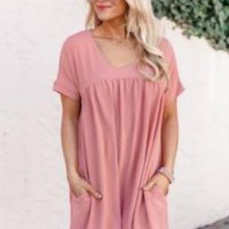 Connect To Your Heart Peach Dress | The Pink Lily Boutique