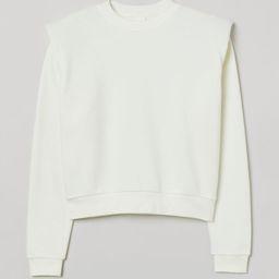 Shoulder-pad Sweatshirt   H&M (US)