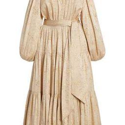 Helena Silk-Lurex Midi Dress   Moda Operandi (Global)