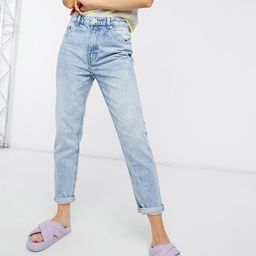 Bershka organic cotton mom jean in light blue   ASOS (Global)