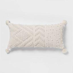 Oversize Embroidered Textured Lumbar Throw Pillow - Opalhouse™ | Target