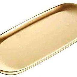 Serving Trays Gold Tray Towel Tray Jewelry Organizer Gold Oval Tray Dish Plate Tea Tray | Amazon (US)