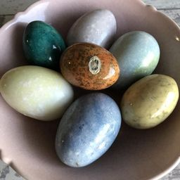 Vintage Alabaster Eggs - Choice Color - Marble Pastel Small Chicken Egg Size   Etsy (US)