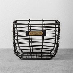 Wire Storage Basket Black - Hearth & Hand™ with Magnolia   Target