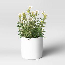 """8"""" x 6"""" Artificial Flower Arrangement White - Threshold™   Target"""