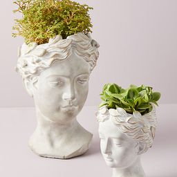 Grecian Bust Pot By Anthropologie in Gold   Anthropologie (US)