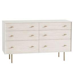 Modernist, Extra Wide Dresser, White + Winter Wood   West Elm (US)