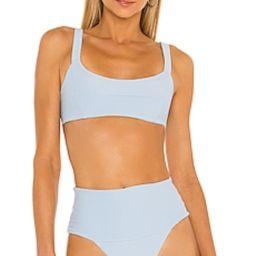 L*SPACE Jess Bikini Top in Sky Blue from Revolve.com | Revolve Clothing (Global)